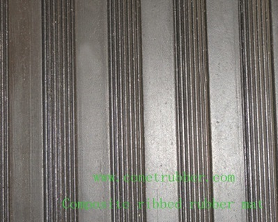 Composite ribbed rubber mat
